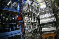 <p>Particolare della struttura del Cern in foto d'archivio. REUTERS/Stefan Wermuth</p>