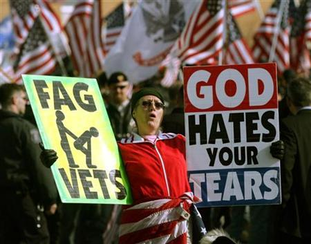 Funeral soldier gay protest