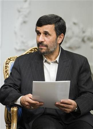 EDITORS' NOTE: Reuters and other foreign media are subject to Iranian restrictions on leaving the office to report, film or take pictures in Tehran. Iran's President Mahmoud Ahmadinejad attends an official meeting in Tehran March 8, 2010. REUTERS/Raheb Homavandi