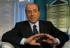"""<p>Silvio Berlusconi durante una puntata di """"Porta a Porta"""" in foto d'archivio. REUTERS/Tony Gentile</p>"""
