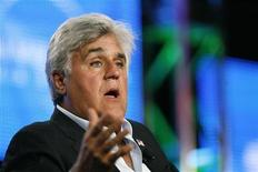 <p>Jay Leno gestures during a panel at the Television Critics Association Cable summer press tour in Pasadena, California in this August 5, 2009 file photo. REUTERS/Mario Anzuoni</p>