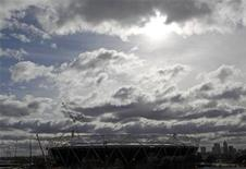 <p>The Olympic Stadium, being constructed for the London 2012 Olympic games, is pictured in east London, March 4, 2010. REUTERS/Andrew Winning</p>