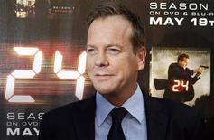 """<p>""""Esse foi o personagem da minha vida,"""" disse o ator principal do seriado """"24 Horas"""", Kiefer Sutherland. 12//05/2009 REUTERS/Fred Prouser/Files</p>"""