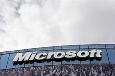 <p>Офис компании Microsoft Corporation в Исси-ле-Мулино, недалеко от Парижа 6 октября 2009 года. Microsoft Corp готовится представить свои долгожданные телефоны Project Pink в начале следующей недели с целью укрепления позиций на растущем рынке смартфонов для молодых пользователей, сообщил источник, знакомый с ситуацией. REUTERS/Charles Platiau</p>