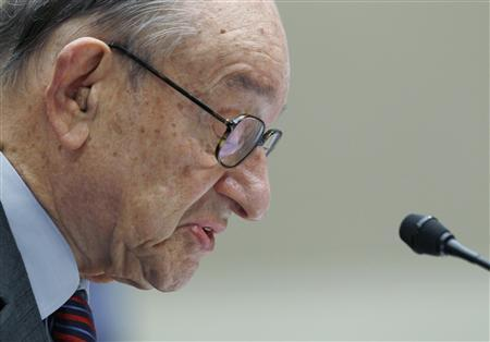 Former Federal Reserve Board Chairman Alan Greenspan testifies before the Financial Crisis Inquiry Commission hearing on Capitol Hill, April 7, 2010. REUTERS/Kevin Lamarque