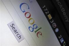 <p>Le chiffre d'affaires de Google a augmenté de 23% au premier trimestre, une hausse supérieure aux attentes de Wall Street. Google a réalisé sur les trois premiers mois de l'année un bénéfice net de 1,96 milliard de dollars. /Photo prise le 13 avril 2010/REUTERS/Mike Blake</p>