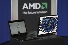 <p>Advanced Micro Devices a publié un chiffre d'affaires trimestriel supérieur aux attentes grâce à la reprise des investissements dans les PC et les serveurs. /Photo d'archives/REUTERS/Steve Marcus</p>
