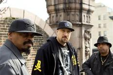 "<p>Members of Cypress Hill (L-R) Sen Dog, B-Real, and Eric Bobo pose for a portrait while promoting their new album, ""Rise Up,"" in New York March 25, 2010. REUTERS/Lucas Jackson</p>"