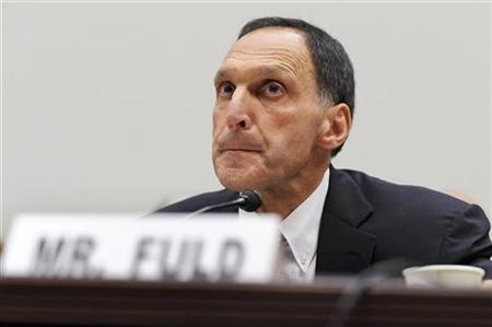 Richard Fuld, pauses during testimony at a House Oversight and Government Reform Committee hearing on the causes and effects of the Lehman Brothers bankruptcy, on Capitol Hill in Washington, October 6, 2008. REUTERS/Jonathan Ernst