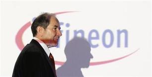 <p>Klaus Wucherer, alto dirigente di Infineon, in foto d'archivio. REUTERS/Michaela Rehle</p>
