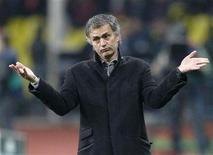 <p>L'allenatore dell'Inter Jose Mourinho REUTERS/Mikhail Voskresensky</p>