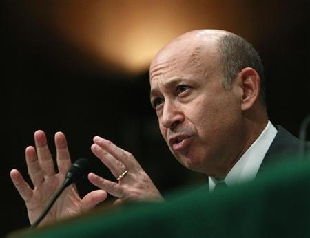Lloyd Blankfein, CEO of Goldman Sachs, delivers testimony before the Senate Homeland Security and Governmental Affairs Investigations Subcommittee hearing on ''Wall Street and the Financial Crisis: The Role of Investment Banks'' on Capitol Hill in Washington, April 27, 2010. REUTERS/Jim Young
