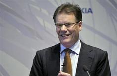 <p>Olli-Pekka Kallasvuo, amministratore delegato e presidente di Nokia, in foto d'archivio. REUTERS/LEHTIKUVA/Kimmo Maentylae</p>