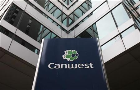 A Canwest sign is seen outside an office building in Toronto, October 6, 2009. REUTERS/Mark Blinch