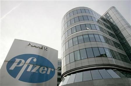 A view of the Belgian headquarters of U.S. pharmaceutical giant Pfizer, in Brussels January 23, 2007. REUTERS/Francois Lenoir
