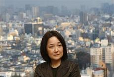 "<p>Japanese author of ""The Apprenticeship of Big Toe P"", Rieko Matsuura, speaks during an interview with Reuters in Tokyo in this March 26, 2010 file photo. REUTERS/Toru Hanai</p>"