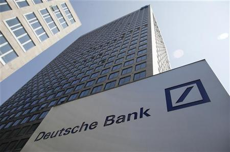 The Deutsche Bank headquarters in Frankfurt are pictured April 28, 2010. REUTERS/Johannes Eisele