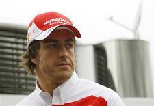 <p>Espanhol Fernando Alonso, piloto da Ferrari, participa de treinos para o GP de Barcelona de F1. REUTERS/Gustau Nacarino</p>