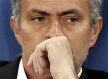 <p>Mourinho in una foto d'archivio. REUTERS/Giampiero Sposito (ITALY - Tags: SPORT SOCCER PROFILE)</p>