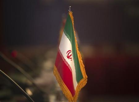 The Iranian flag is pictured before the opening of the 32nd Meeting of the Ministers of Foreign Affairs of G-15, at a Foreign ministry building in northern Tehran, May 15, 2010. REUTERS/Morteza Nikoubazl