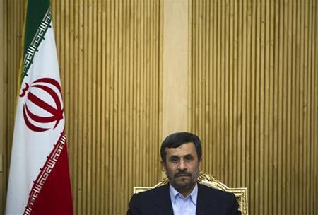 Iranian President Mahmoud Ahmadinejad attends a news conference as he arrives at Tehran's International Mehrabad Airport May 5, 2010, after a trip to attend the Nuclear Non-Proliferation Treaty Review Conference at the United Nations Headquarters in New York. REUTERS/Morteza Nikoubazl