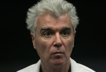 U.S. musician David Byrne attends a conference with public before screening his movie ''True Stories'' at the Estoril Film Festival in this November 13, 2009 file photo. REUTERS/Hugo Correia