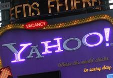 <p>Yahoo annonce pouvoir renouer avec une croissance de son chiffre d'affaires de 10% dans les prochaines années, grâce à la refonte de ses sites. Le groupe a déclaré aux analystes attendre une croissance de son chiffre d'affaires net comprise entre 7% et 10% entre 2011 et 2013, après avoir accusé une baisse de 13% de ses revenus en 2009. /Photo prise le 25 janvier 2010/REUTERS/Brendan McDermid</p>