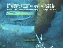 <p>Fuoriuscita di greggio dal pozzo della BP nel Golfo del Messico, foto d'archivio. REUTERS/BP/Handout</p>