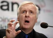 "<p>Film director and Lightstorm Entertainment Chairman James Cameron answers a reporter's question during a news conference after he delivered a keynote address titled ""Renaissance now in imagination and technology"" at the Seoul Digital Forum 2010 May 13, 2010. REUTERS/Jo Yong-Hak</p>"