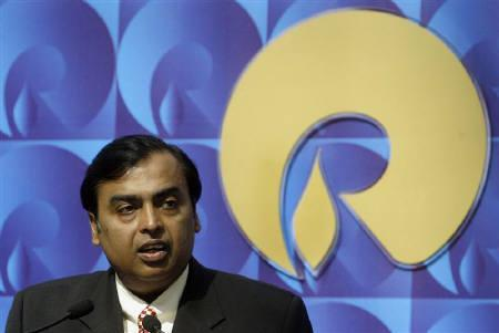 Mukesh Ambani, chairman of Reliance Industries, speaks during a news conference in Mumbai in this September 21, 2008 file photo. REUTERS/Punit Paranjpe/Files