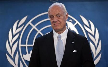 Staffan De Mistura, the new Special Representative of the United Nations for Afghanistan, speaks during a news conference in Kabul March 23, 2010. REUTERS/Ahmad Masood