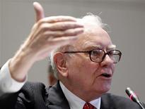 <p>O investidor bilionário Warren Buffett é o terceiro homem mais rico do mundo. 02/06/2010 REUTERS/Shannon Stapleton/File</p>