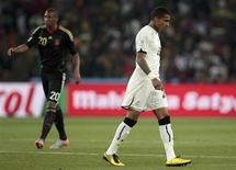 <p>Irmãos Boateng são vistos durante partida entre Alemanha e Gana pela Copa do Mundo. REUTERS/Ina Fassbender</p>