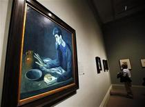 "<p>Pablo Picasso's 1903 oil painting ""The Blind Man's Meal"" is seen during a media preview of 300 works by Picasso at The Metropolitan Museum of Art in New York April 19, 2010. REUTERS/Shannon Stapleton</p>"