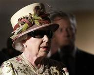 <p>Britain's Queen Elizabeth wears 3D glasses to watch a demonstration of 3D-film production at Pinewood Toronto Studios in Toronto July 5, 2010. REUTERS/Mike Cassese</p>