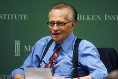 <p>Apresentador de TV Larry King e sua mulher desistiram do divórcio iniciado em abril. 29/04/2009 REUTERS/Fred Prouser</p>