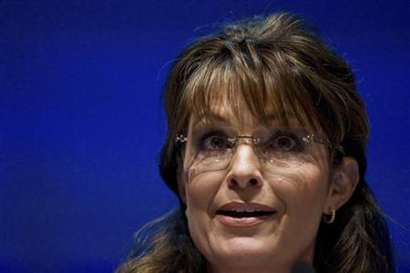 Former Alaska Governor and 2008 Republican vice presidential candidate Sarah Palin speaks during the National Rifle Association's 139th annual meeting in Charlotte, North Carolina May 14, 2010. REUTERS/Chris Keane
