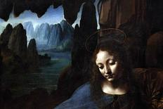 "<p>The Virgin Mary is seen from the artwork ""The Virgin on the Rocks"" by Leonardo da Vinci (1491-1508), at the National Gallery in London July 14, 2010. An 18-month project to restore Leonardo da Vinci's ""Virgin of the Rocks"" revealed the Renaissance artist likely painted the entire work himself rather than, as previously thought, with the help of his assistants. REUTERS/Suzanne Plunkett</p>"