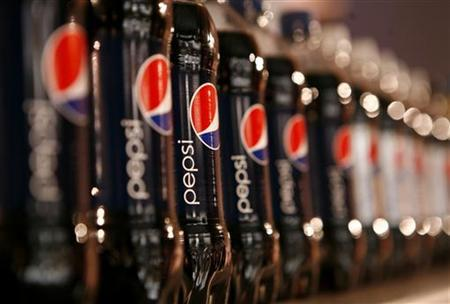 Bottles of Pepsi are seen at PepsiCo's 2010 Investor Meeting event in New York, March 22, 2010. REUTERS/Mike Segar