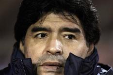<p>Técnico da seleção argentina, Diego Maradona, terá seu futuro decidido na semana que vem. REUTERS/Marcos Brindicci</p>