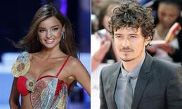 <p>Supermodel Miranda Kerr and actor Orlando Bloom in a combination image. REUTERS/Files</p>