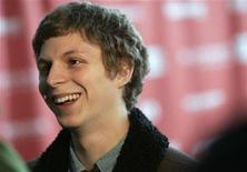 "<p>Cast member Michael Cera is interviewed as he arrives for the premiere of the film ""Paper Heart"" at the Sundance Film Festival in Park City, Utah January 17, 2009. REUTERS/Danny Moloshok</p>"