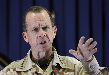 Admiral Mike Mullen, chairman of the Joint Chiefs of Staff, speaks during a news conference in Kabul July 25, 2010. REUTERS/ Omar Sobhani