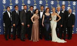 "<p>The cast of ""Mad Men"" poses after their show won outstanding drama series at the 61st annual Primetime Emmy Awards in Los Angeles, California, September 20, 2009. REUTERS/Lucy Nicholson</p>"