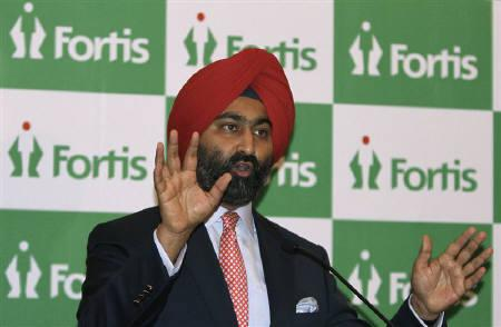 Malvinder Singh, Chairman of Fortis, speaks during a news conference in New Delhi July 26, 2010. REUTERS/B Mathur