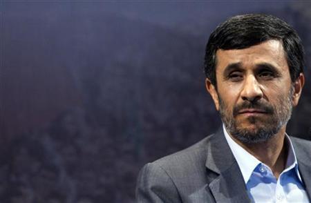 Iranian President Mahmoud Ahmadinejad listens to a question during a news conference in Tehran June 28, 2010. REUTERS/Raheb Homavandi