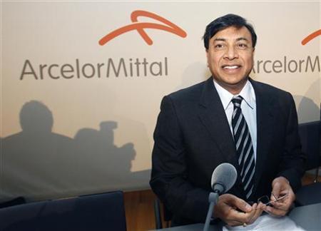ArcelorMittal-Chef Lakshmi Mittal während einer Bilanzpressekonferenz in Luxemburg am 10. Februar 2010. REUTERS/Thierry Roge