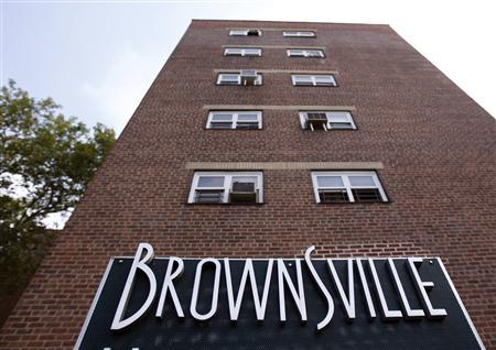 The entrance to Brownsville Houses in Brooklyn, July 29, 2010. REUTERS/Shannon Stapleton