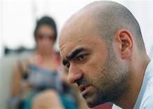 """<p>Florin Serban, diretor do filme romeno """"If I Want To Whistle, I Whistle"""", concede entrevista à Reuters durante o festival de cinema de Sarajevo, na Bósnia. 29/07/2010 REUTERS/Danilo Krstanovic</p>"""