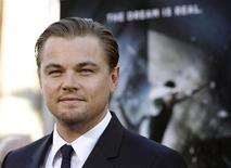 """<p>Leonardo DiCaprio no lançamento de """"A Origem"""" em Hollywood. O filme de suspense dominou as bilheterias norte-americanas pelo terceiro final de semana nesse domingo. 13/07/2010 REUTERS/Mario Anzuoni</p>"""